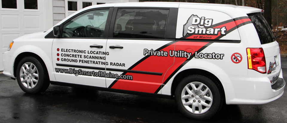 The Dig Smart of Maine van.